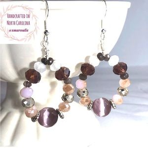 Frontrow.style Jewelry - Sterling Silver Earrings Darling Pink Cats Eye